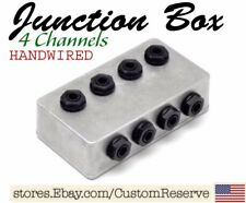 CR® 4 CHANNEL PEDALBOARD JUNCTION BOX PATCH BAY FOR ELECTRIC GUITAR HANDWIRED
