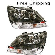Halogen Head Lamp Assembly Set of 2 Pair Lh & Rh Side Fits 1999-2000 Lexus Rx300