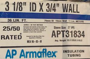 "AP Armaflex Pipe Tube Insulation APT33184 3 1/8"" ID x 3/4"" WALL 36 LIN FT"