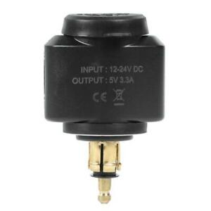 Motorcycle 3.1A Dual USB Charger Adapter for BMW Hella/DIN Powerlet Plug