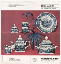 Prospekt Villeroy & Boch Mettlach ( Saar ) Blue Castle Steingut Service 1968 !(D