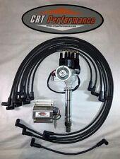 BB Chevy BBC Small Cap H.E.I HEI Distributor Kit W/ Plug Wires & 50K E-Core Coil