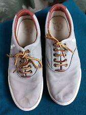 Polo by Ralph Lauren Vaughn Grey Deck Shoes Leather Laces UK7 EU41 26.5cm