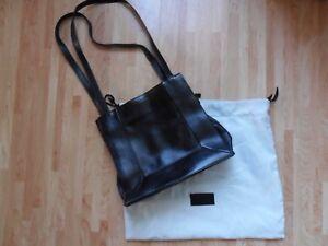 Radley vintage medium handbag black leather with dust bag