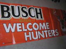 "36"" x 94"" Busch Welcome Hunters Beer Banner Deer Orange Rifle Budweiser Bud"