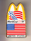 RARE PINS PIN'S .. MC DONALD'S RESTAURANT FOOTBALL SOCCER WC 1994 TEAM USA ~16