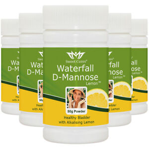 (5 Pack) Waterfall D-Mannose with alkalising Organic Lemon - Save £16.00 : 5TLE