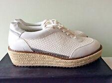 KURT GEIGER LUSH ladies white espadrille wedge sneaker size 40 RRP £130
