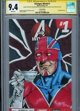 CAPTAIN BRITAIN Sketch cover art by MIKE PERKINS CGC SS 9.4 Marvel Avengers