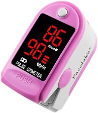 Pulse Oximeter Fingertip CMS50DL / FL400 Blood Oxygen SpO2 Monitor FDA - Pink