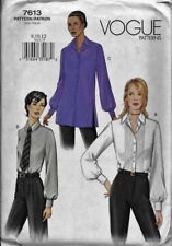 Vogue Sewing Pattern 7613 Misses' SHIRT & TIE sz 8,10,12 Easy to Sew