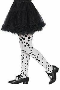 Child Dalmation Black & White Spotty Tights Fancy Dress Accessory