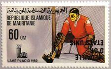 MAURITANIA MAURETANIEN 1980 675 444 VARITY ABART Olympics Lake Placid Ice Hockey
