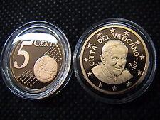 VATICANO 2011 1 moneta da 5 eurocent FONDO a SPECCHIO PROOF FS PP BE in capsula