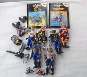 Biker Mice Action Figures Job lot Bundle + Ladybird Books + Accessories