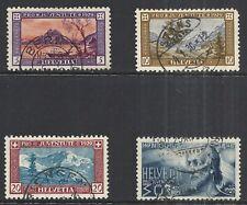 SWITZERLAND SCOTT B49 - B52 USED SET - 1929 SEMI-POSTAL ISSUE CAT $25.60