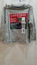 NWT Toddler T Shirt 3T Christmas Count Down Long Sleeve Grey Quality Graphic