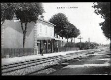 ETAIS (89) CHEF de GARE sur QUAI , cliché début 1900