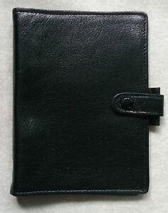 Filofax File Organiser Leather NEW EXTRA SLIM POCKET BLACK 11mm RING Diameter