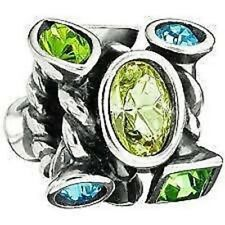 Authentic Chamilia Element Charm 925 Silver Marquis Green Swarovski JC-2E