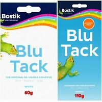 Blu Tack, Blue Tack, White Tac Reusable Adhesive Large/Mix Packs Original Bostik