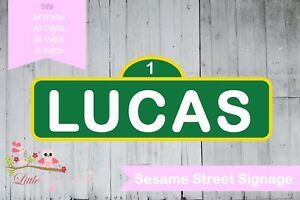 Personalised Sesame Street Name Birthday Party Poster A4 Wall Sign Banner Elmo