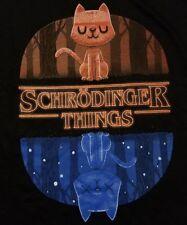 """Schrodinger Things"" Stranger Cat Experiment Mashup Men's XXL Shirt Teefury"