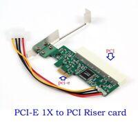 PCI-e PCI Express to PCI Adapter Card Riser Extender 32bit Asmedia 1083 Chip