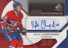 08-09 SP Game Used SIGNIFICANCE AUTO xx/50 Made! Kyle CHIPCHURA - Canadiens