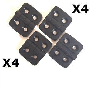 Nylon Plastic Hinge 40 X 30mm Black Plastic Hinge Butt Hinges 4 PCS