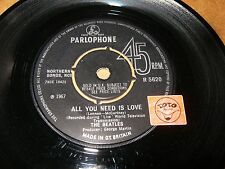 THE BEATLES - ALL YOU NEED IS LOVE - BABY YOU'RE A RICH MAN   / LISTEN - POP