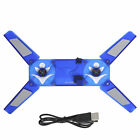 Laptop USB Cooling Dual Fans LED Light Cooler Pad Stand For PC Laptop Notebook