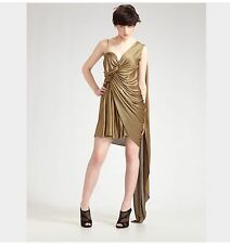 ALEXANDER WANG GOLD RUNWAY CEREMONY DRESS UK10