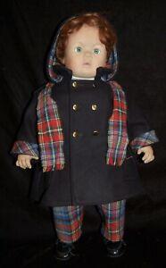 "Pat Secrist Artist Doll Boy Red Hair Coat Scottish Plaid Limited Edition 23"""