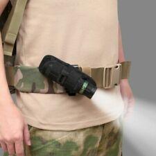 LED Flashlight Torch Lamp Light Holster Holder Carry Case Belt Pouch Nylon  Wd
