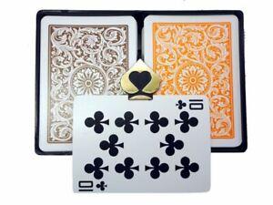 COPAG 1546 Orange & Brown - Regular Index - Poker