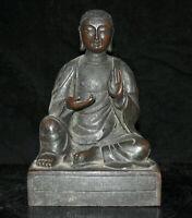 "10 ""Bouddhisme Tibétain Bronze Siège Je Tsongkhapa Tsongkhapa Bouddha Sculpture"