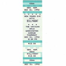 BILLY GOAT Concert Ticket Stub HOUSTON 12/31/92 NEW YEARS EVE CLOTHES OFF Rare
