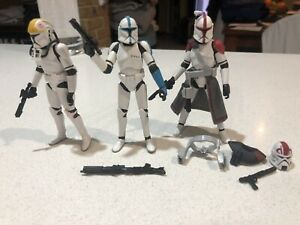 "STAR WARS Clone Trooper Mix (x3) 3.75"" Figures (LOOSE) *RARE"