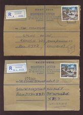 RHODESIA 1979 REG.ENVELOPES x 2..CONCESSION + CENTENARY