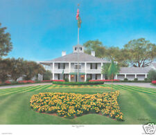 Augusta National Golf Club Clubhouse - Blue Sky- Giclee on Canvas Lm/Ed. 16x20