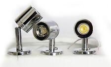 LAP LED ad alta potenza sotto armadio armadietto Regolabile Cromato Faretto Luci 3pk