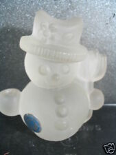 Goebel Frosted Crystal Snowman Holder 1970's