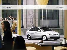 2007 Hyundai Accent sedan/hatchback sale brochure