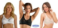 Naturana 5046 Wide Strap  Firm Support Non Wired Soft Full Cup Lace Detail Bra