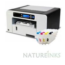 Bundle RICOH AFICIO SG 3110DN A4 SUBLIMATION INK PRINTER with refillable GC 41