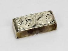 Sterling Silver Small Rectangular Napkin Ring - No Monogram