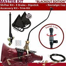 TH350 Shifter Kit 23 Swan E Brake Cable Trim Kit Dipstick For DED24 fits lokar