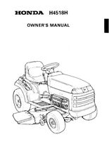 HONDA Ride On Falciatrice H4518H Proprietari Manuale 89 EDIZIONE, RISTAMPA Pettine vincolato