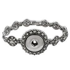 "Bracelet Magnolia Vine Jewelry Snaps 18mm Fits Ginger Snap Ginger Snaps 7"""
